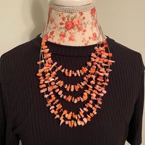 Orange coral necklace